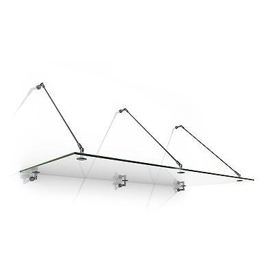 200 X 90 CM GLASS DOOR CANOPY AWNING SHED STAINLESS STEEL BRACKET HOME SHOP