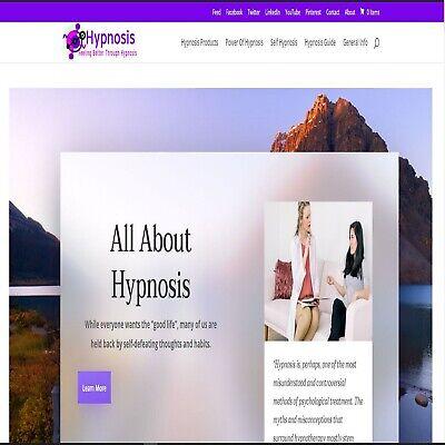 Hypnosis Wordpress Website.with An Affiliate Shop...ebayamazonwalmartand More