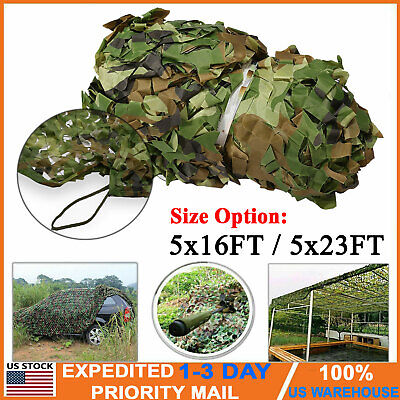 16ft/23ft Camouflage Netting Camo Army Net Woodland Camping Hunting Cover Shade