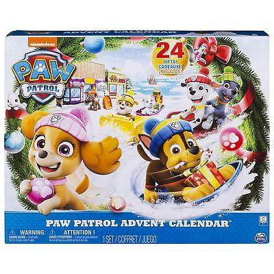 Paw Patrol Advent Calendar with 24 Collectible Plastic Figures