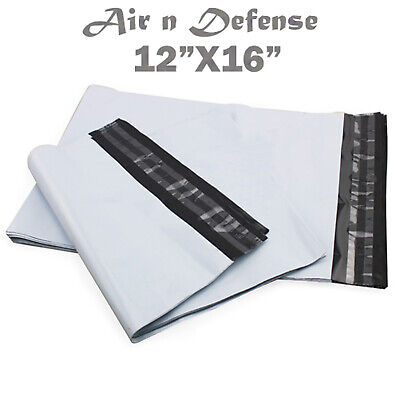 12 X 16 Poly Mailers Envelopes Plastic Shipping Bags 2.5 Mil Airndefense