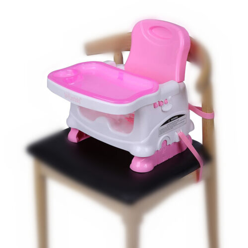 VILOBOS Toddler Feeding Seat Adjustable Booster Baby Chair Kid Infant Tray Table