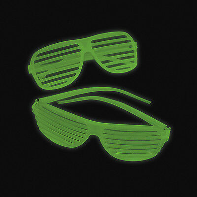 12 Glow in the Dark Shutter Shading Glasses SunGlasses BIRTHDAY Party Favor