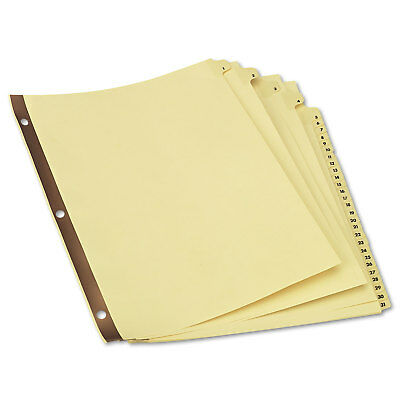 UNIVERSAL Preprinted Plastic-Coated Tab Dividers 31 Numbered Tabs Letter Buff 31 ()