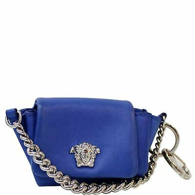 VERSACE Micro Sultan Bag Keychain Blue
