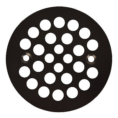 Oil Rubbed Bronze Round Shower Grate Drain 4-1/4″ Replacement Cover Bath