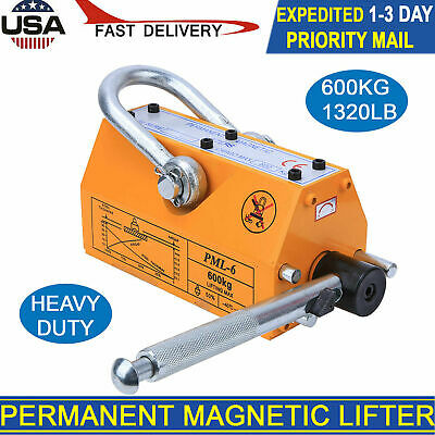 1322 Lb Heavy Duty Steel Permanent Magnetic Lifter Crane Hoist Lifting Magnet Us