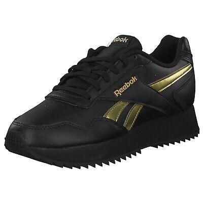 Reebok Royal Glide Damen Sneakers Turnschuhe Dv3847 Schwarz Gold Neu