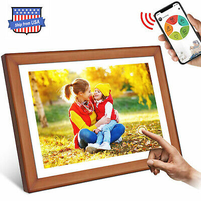 WiFi Digital Picture Frame Photo Wood 10.1