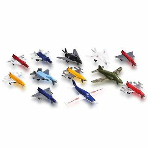 Holiday Gift Idea Metal Die cast Toy Airplane Set Of 12 Military Planes And Jets