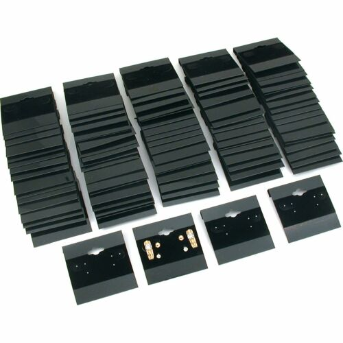 300pk Black Flocked Earring Hanging Display Cards Jewelry 1 1/2""