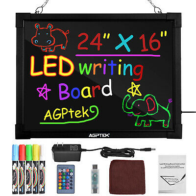 2416 Led Message Board Illuminated Erasable Writing Drawing Remote Control