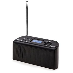 Akai A61016 Portable DAB Digital Radio  AC or Battery Operated -Black -Brand NEW