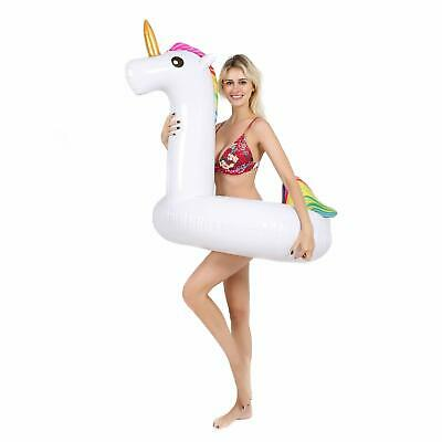 Giant Unicorn Float Pool Inflatable Swimming Toy Ride-On Rafts + Carrying Bag](Giant Inflatable)