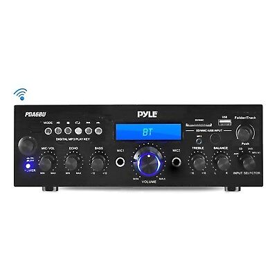 Pyle Bluetooth Stereo Amplifier Receiver [Compact Home Theater Digital Audio ...