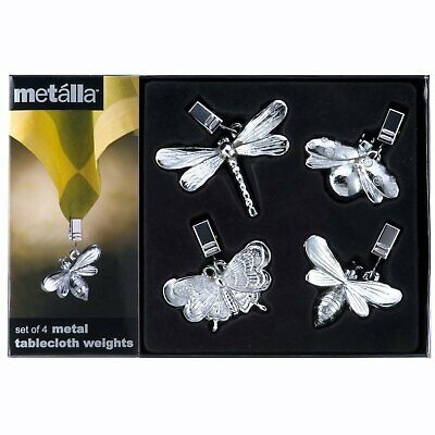Prodyne Garden Dwellers Metal Tablecloth Weights/Clips - Set of 4