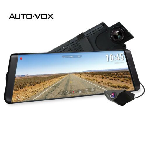 Auto-Vox 9.88'' Car DVR Dash Cam Vehicle Rear View Mirror Ba