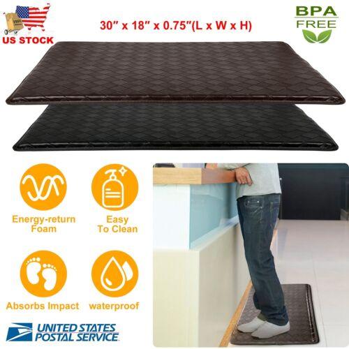 """Anti-Fatigue Floor Mat 30"""" x 18"""" Indoor Cushion Non-Slip Mem"""