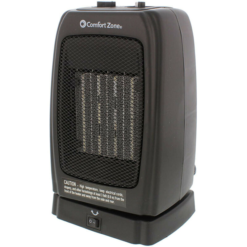 Comfort Zone Portable Electric Ceramic Oscillating Indoor Space Heater