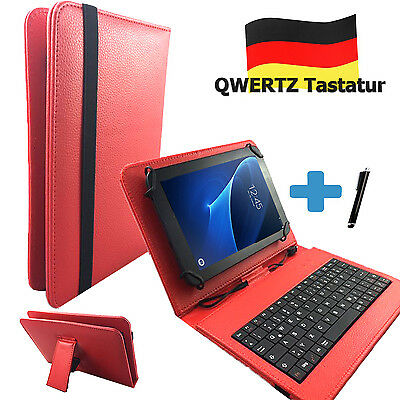 Deutsche Tastatur Hülle - Kurio Tab 2 Kids - 7 zoll Tablet Tasche Qwertz Rot ()