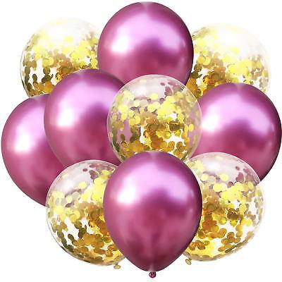 Set Geburtstag Party Hochzeit JGA Deko Ballons Pink Gold (Luftballons Gold)