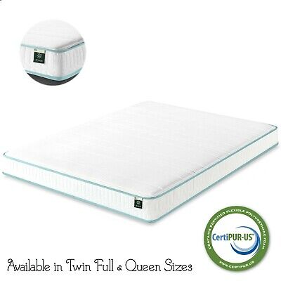 Twin Full Queen Size Zinus Hybrid Memory Foam Green Tea Spring Mattress Firm 6