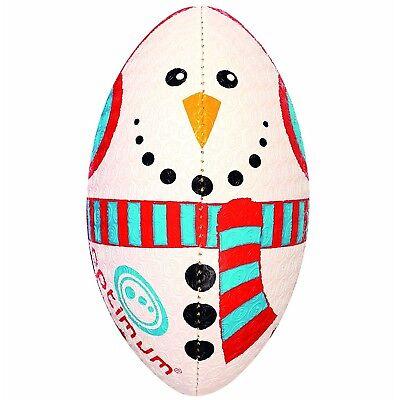 Optimum Mini Rugby Ball - Christmas Snowman