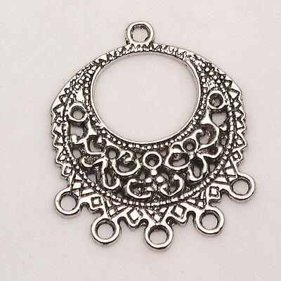Flower Connector - Connectors Flowers Tibetan Silver Jewelry Earring Jewelry Findings