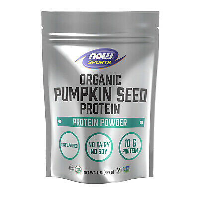 Now Sports Nutrition Organic Pumpkin Seed Protein Powder 10mg,Unflavored,1 Pound