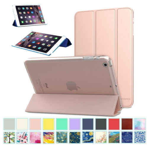 MoKo Smart Shell Stand Cover Case w/ Frosted Back Protector