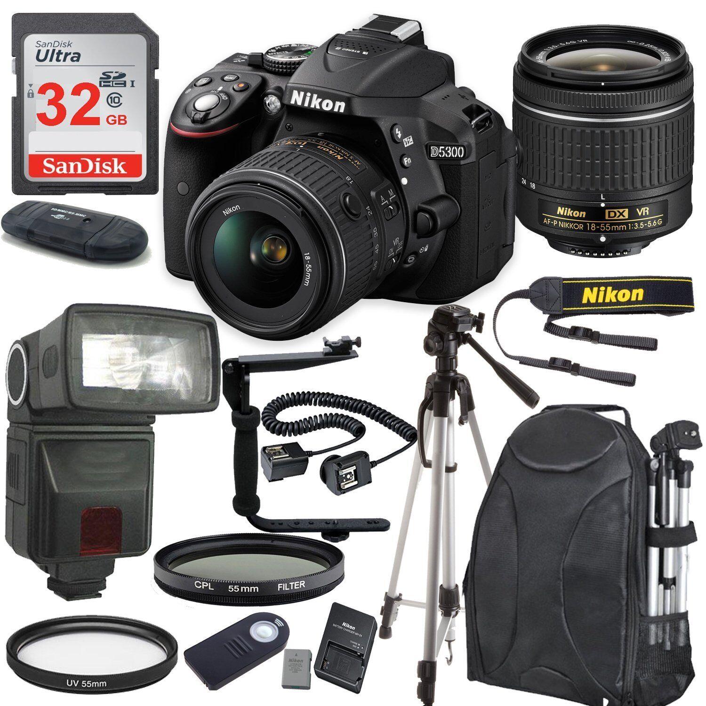 Nikon D5300 Digital SLR Camera + Lens Kit 18-55mm Lens + 32GB Bundle