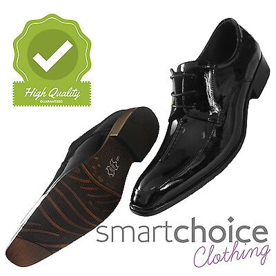 Mens Gloss Black Formal Wedding Shoes Lace Up Special Occasion Wear *[FREE P&P]* Special Occasions Mens Shoe