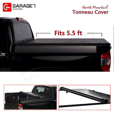 Black Soft Roll-Up Tonneau Cover Fit 2006-2014 F150  Mark LT 5.5' Styleside Bed Crew Cab 5.5' Box