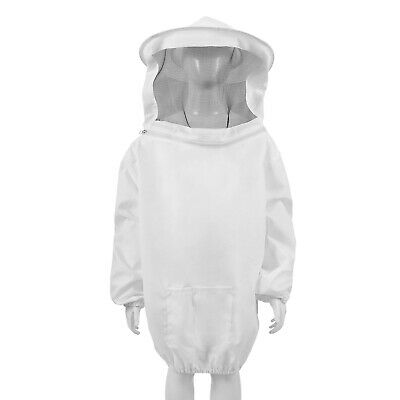 Beekeeping Jacket - Premium Beekeeper Pull Over Suit Coat Outfit Kids M White