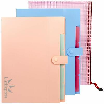 Accordion Folder Tabbed Paper Organizer Perfect File Folders With 5 Pockets