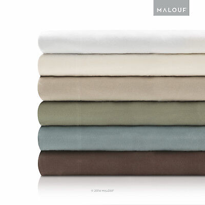 MALOUF WOVEN Deluxe Portuguese Flannel Sheet Set - Twin, Twin XL, Full and - Deluxe Sheet Set Flannel