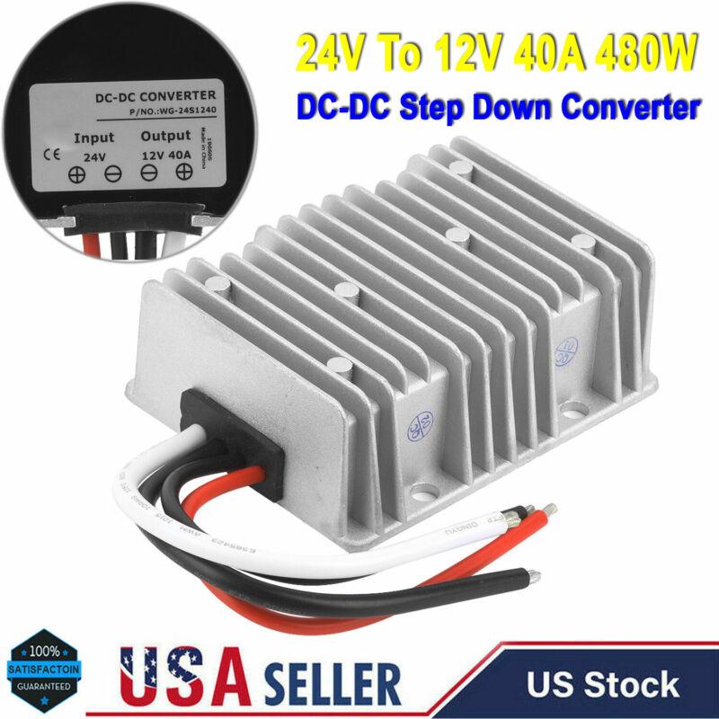 24Volt Step Down to 12Volt 40 Amp DC DC Converter Voltage Reducer Regulator 480W