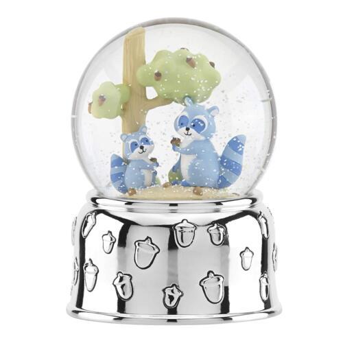 Reed & Barton Hazelnut Hollow Raccoon Musical Waterglobe Snow Globe - Brand New