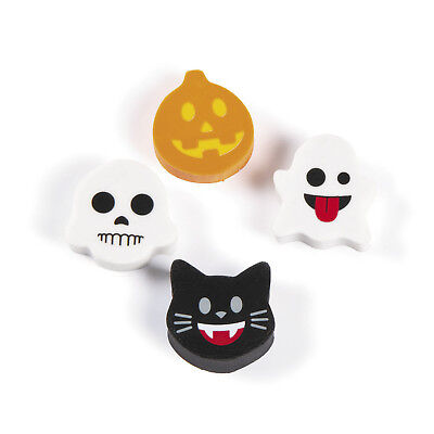 48 Emoji Erasers HAUNTED HOUSE Halloween Party Favor TRICK OR TREAT - Halloween Erasers Bulk