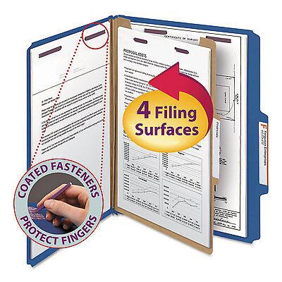 Smead Pressboard Classification Folders Letter Four-section Dark Blue 10box