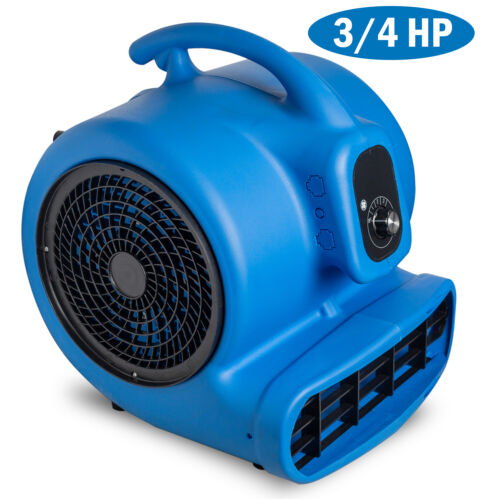 3/4HP Air Mover Durable Lightweight Carpet Dryer Utility Floor Blower Janitorial