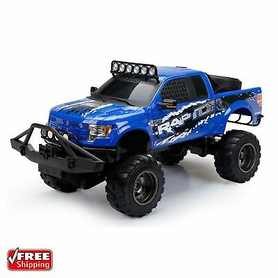 New Bright RC 1:6 Scale Blue Ford Raptor Truck Fun Toy For Kids and Adults - Rc Toys For Adults