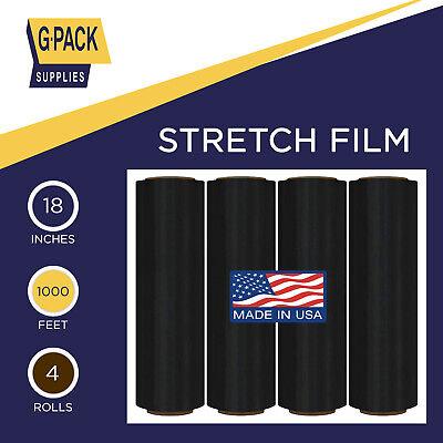 Stretch Film 18 In X 1000 Ft 85g Pallet Wrap Furniture Plastic Film 4rolls