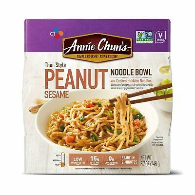 4x Annie Chun's Thai Style Peanut Sesame Noodle Bowl (Thai Peanut Noodles)