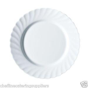 Luminarc Trianon White Dessert /Side Plate by Arcoroc 19cm/7.25