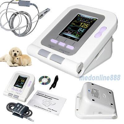 Vet Digital Blood Pressure Monitor Tonometry Spo2 Tongue Probe For Animal Usb Sw