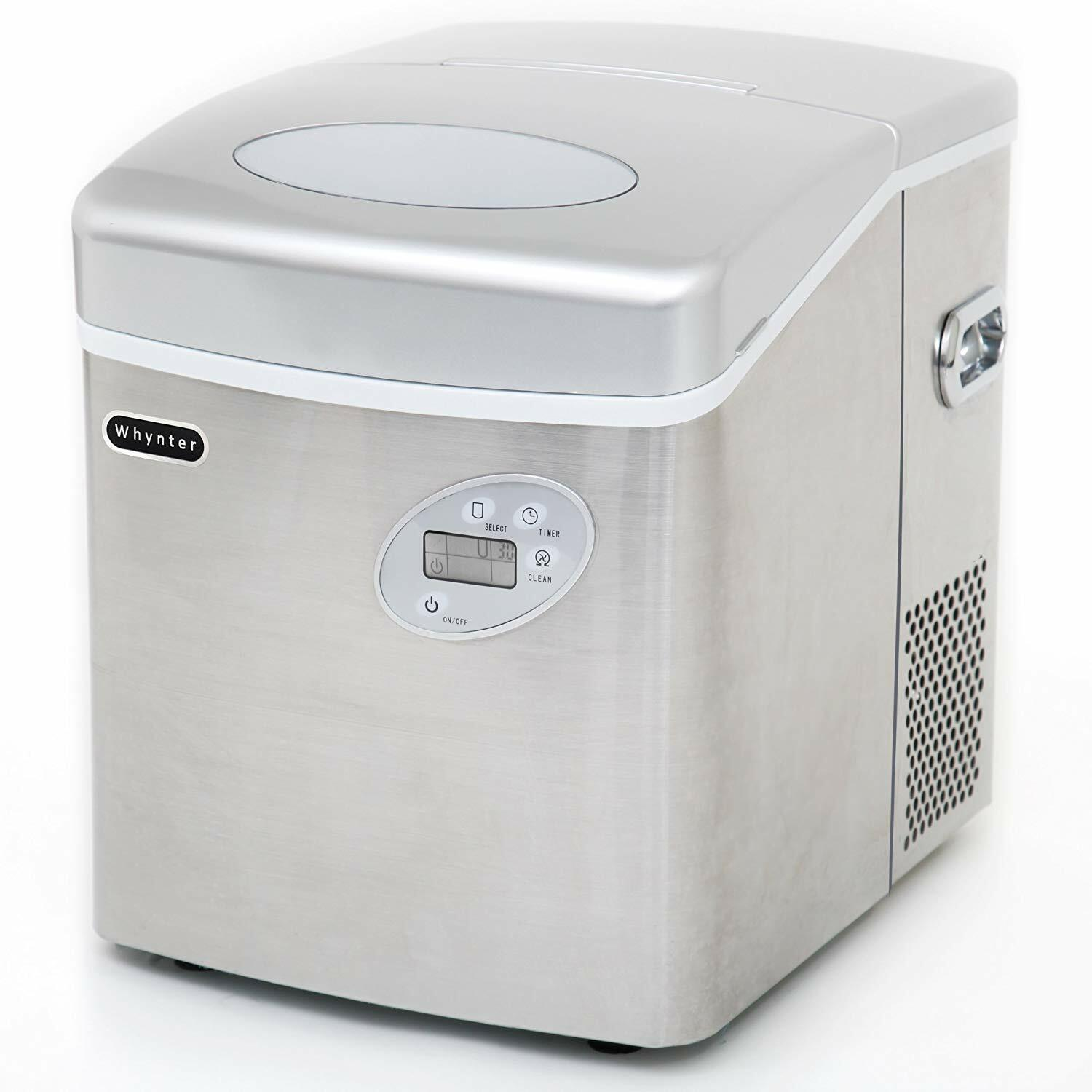 Whynter Portable Ice Maker 49 lb Capacity - Stainless Steel
