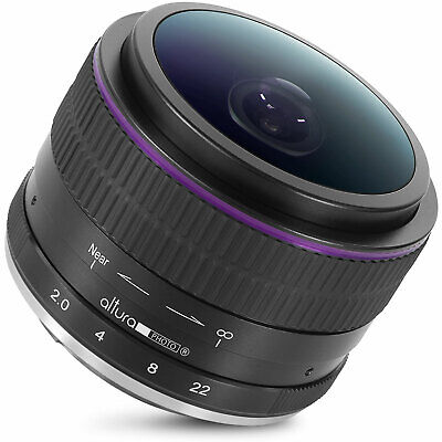 Fisheye Lens for Sony E-Mount Cameras 6.5mm f/2.0 by Altura Photo