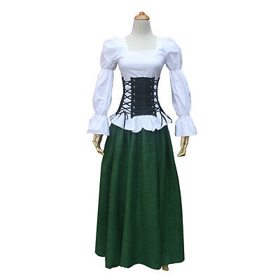 Medieval Clothing For Women (Women Medieval Renaissance Pirate Steampunk Top Blouse Shirt Theater Clothing)