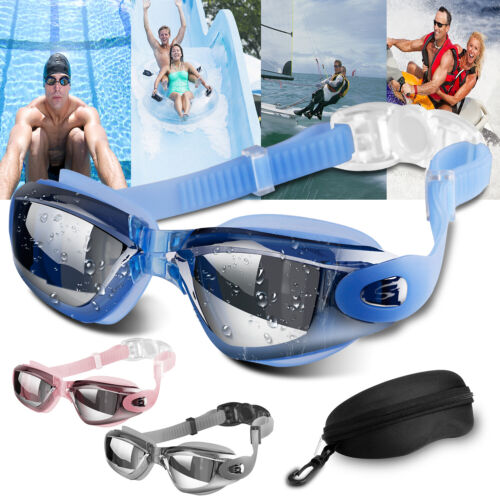Mirror Swimming Goggles Anti-Fog Swim Glasses UV Protection For Adults Women Men